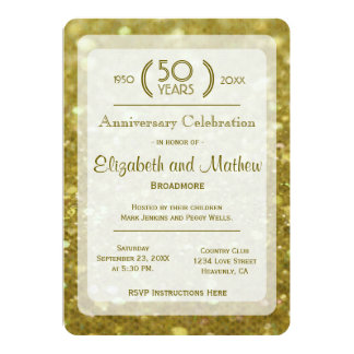 50th Anniversary | Gold Flakes Card