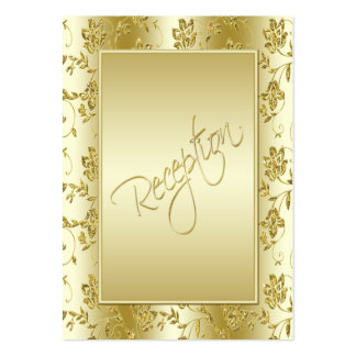 50th Anniversary Gold Glitter Reception Card Business Card Template