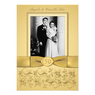 50th Anniversary Gold Invite- DON T USE GOLD PAPER