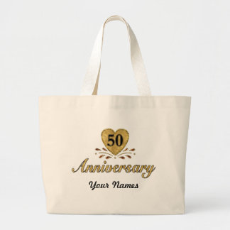 50th Anniversary - Gold Large Tote Bag