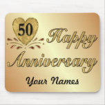 50th Anniversary - Gold Mouse Pad