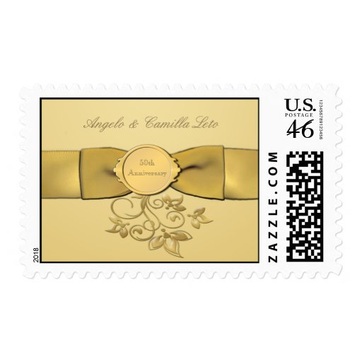 50th Anniversary Gold Postage