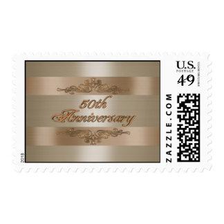 50th anniversary gold satin stamp