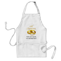 50th Anniversary | Gold Script Adult Apron