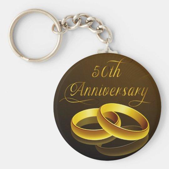 50th Anniversary | Gold Script Keychain