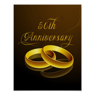 50th Anniversary | Gold Script Print