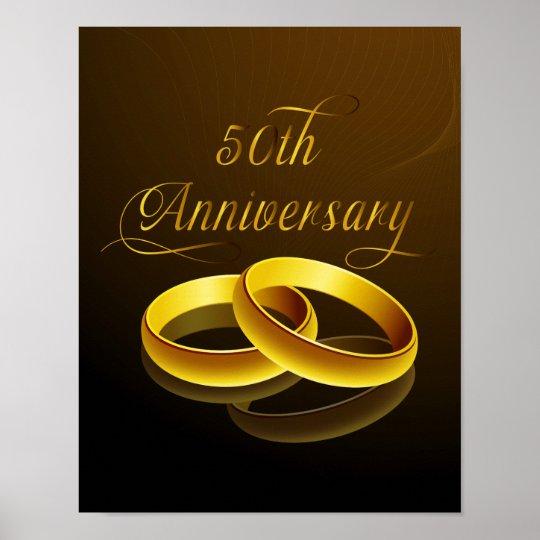 50th Anniversary | Gold Script Poster