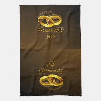 50th Anniversary   Gold Script Towels