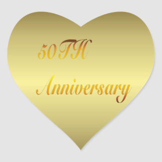 50TH Anniversary Gold Sticker