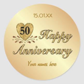 50th Anniversary - Gold Stickers
