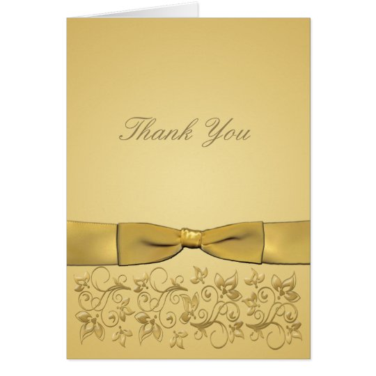 50th Anniversary Gold Thank You Card **New version