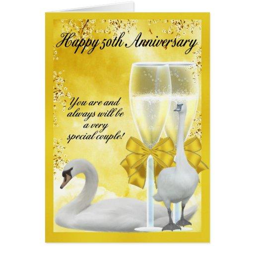 Th anniversary golden card zazzle