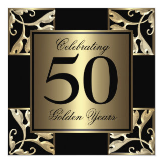 50th anniversary golden card