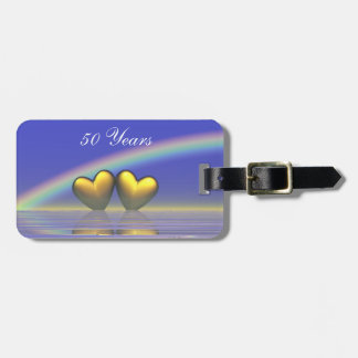 50th Anniversary Golden Hearts Luggage Tag