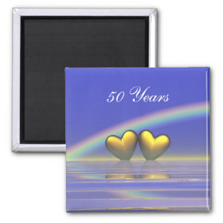 50th Anniversary Golden Hearts Magnet
