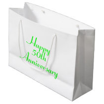 50th Anniversary Green Text Template Gift Bag