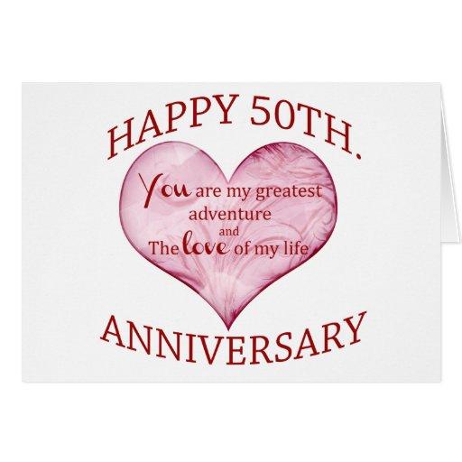 Th anniversary greeting card zazzle