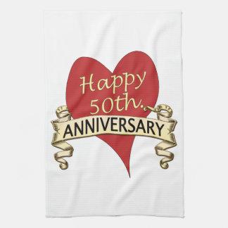 50th. Anniversary Hand Towel