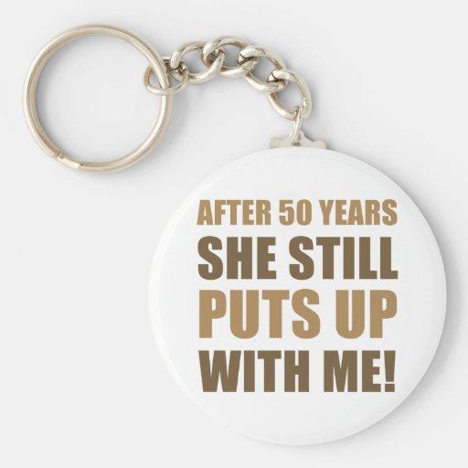 50th Anniversary Humor For Men Key Chain