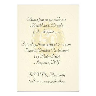 50th Anniversary 5x7 Paper Invitation Card