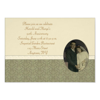 50th Anniversary Custom Invitations