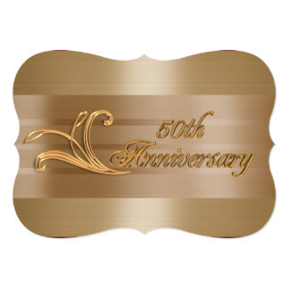 50th anniversary invitation elegant gold