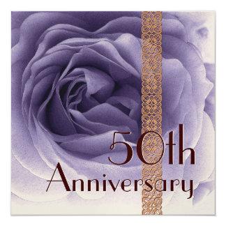 50th Anniversary Invitation - PURPLE Rose