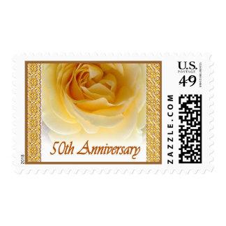 50th Anniversary Invitation Rose Stamp