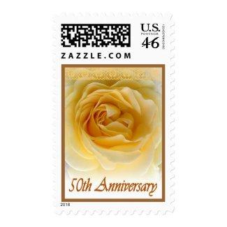 50th Anniversary Invitation Rose Stamp stamp