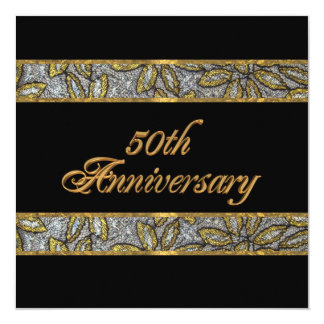 50th anniversary invitation square