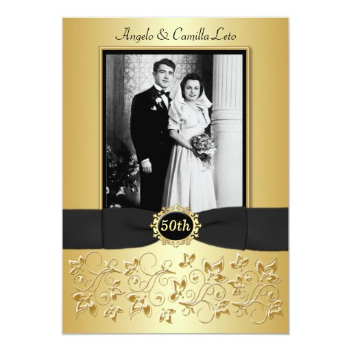 50th Anniversary Invite - DO NOT USE GOLD PAPER!!