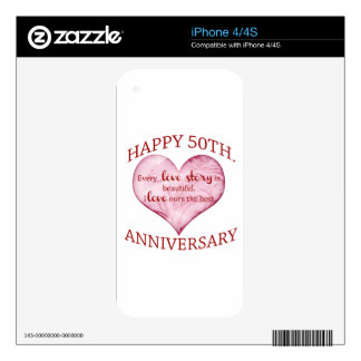 50th. Anniversary iPhone 4S Decals
