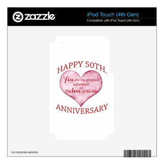 50th. Anniversary iPod Touch 4G Skin