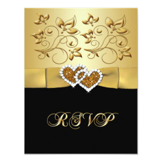 50th Anniversary Joined Hearts 2 Wedding RSVP Card