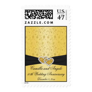 50th Anniversary Joined Hearts II Postage