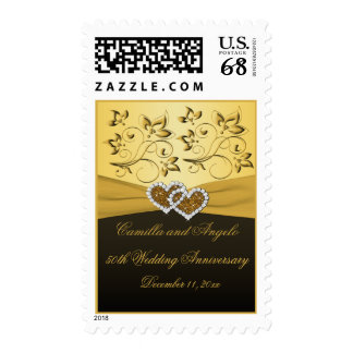 50th Anniversary Joined Hearts Postage