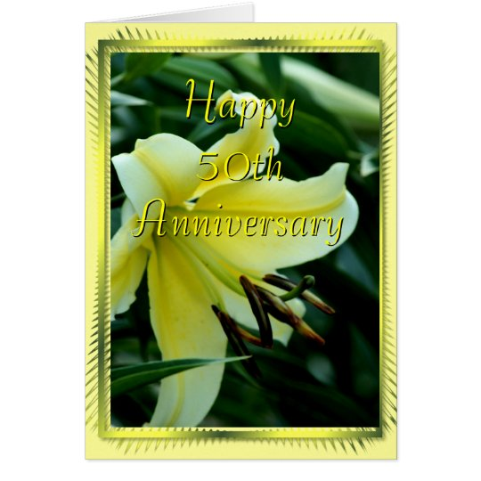 50th Anniversary Lily Card- any occasion Card