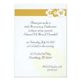 50th Anniversary Luau Invitations