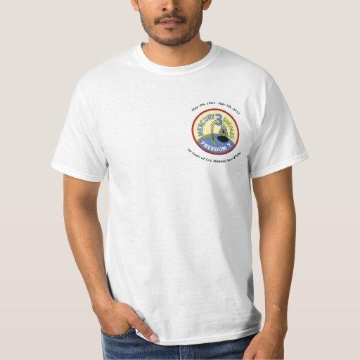 50th Anniversary Manned U.S. Spaceflight Tee Shirts