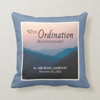 50th Anniversary of Ordination Congratulations Throw Pillow
