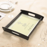 50th Anniversary of Priest with Embossed Cross Serving Tray