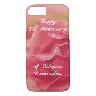 50th Anniversary of Religious Consecration Pink Ro iPhone 8/7 Case