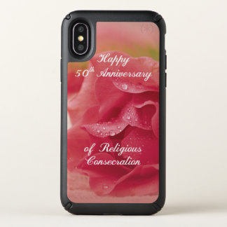 50th Anniversary of Religious Consecration Pink Ro Speck iPhone X Case