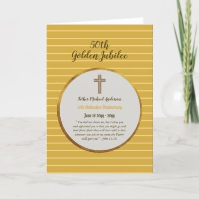 50th Anniversary Ordination Priest - ANY Clergy Card