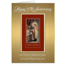 50th Anniversary Ordination Priest at Altar Card