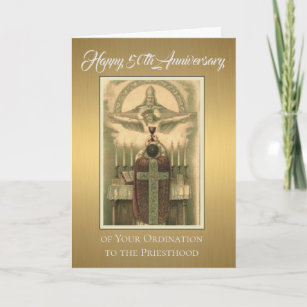 Priests 50th Of Ordination Anniversary Cards Zazzle
