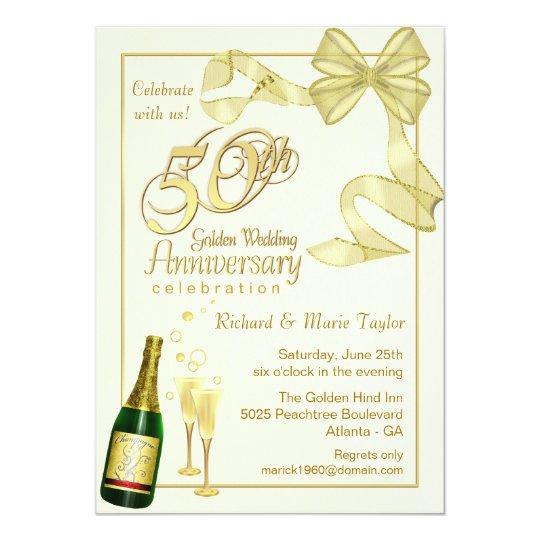 50th Wedding Anniversary Gift Etiquette: 50th Anniversary Party - Bargain Invitations