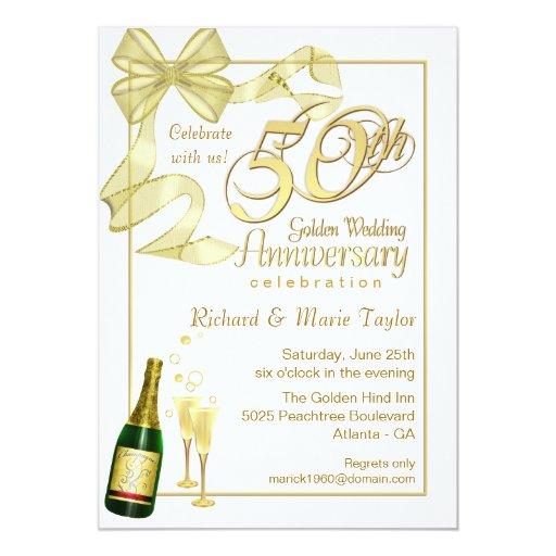 50th anniversary party   bargain invitations