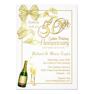 50th Anniversary Party - Bargain Invitations