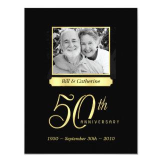 "50th Anniversary Party - Custom Photo Invitations 4.25"" X 5.5"" Invitation Card"